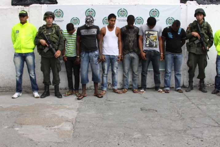 Capturan 7 miembros pertenecientes a  'Los Rastrojos' y 'Los Urabeños'