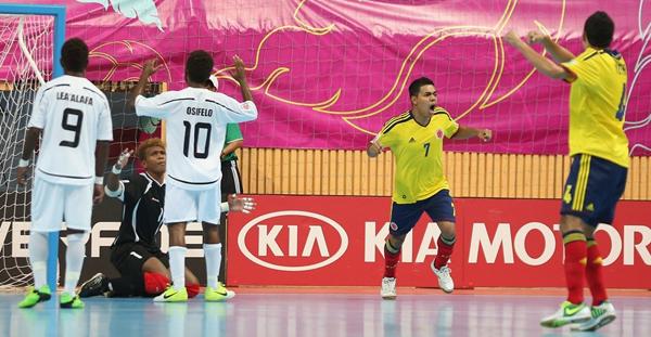 Colombia goleó y sigue con vida en el Mundial de Fútsal en Tailandia