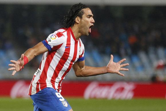 Falcao volvió al gol y llegó a la anotación 50 con el Atlético de Madrid