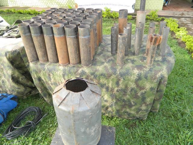 Fábrica de explosivos fue encontrada en el Cauca