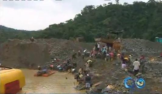 Ríos contaminados en el Chocó por la minería ilegal