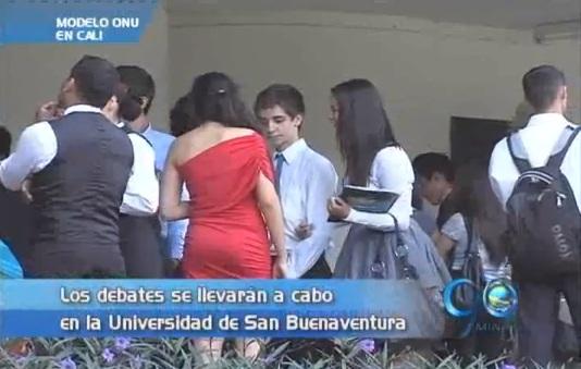 Estudiantes de colegios representan el modelo de la ONU