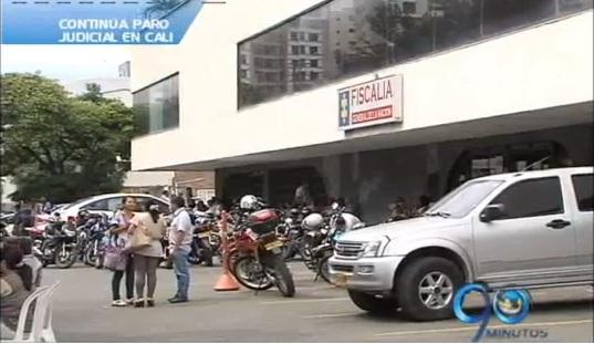 El paro judicial continúa en la capital del Valle del Cauca