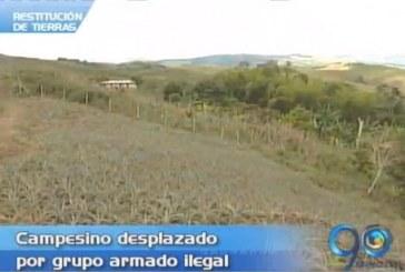 Restitución de tierras a campesinos a partir de Diciembre