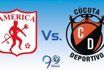 Minuto a minuto, juego de promoción América Vs. Cúcuta
