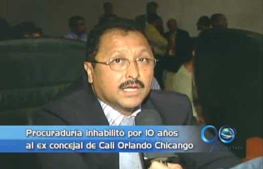 Procuraduría inhabilitó por 12 años al ex concejal Orlando Chicango