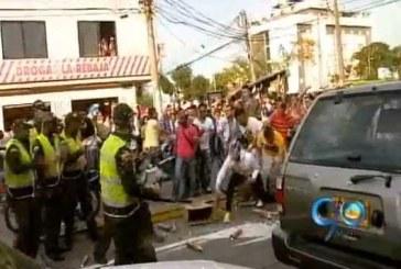 Policía incauta tarros de espuma debido a disturbios