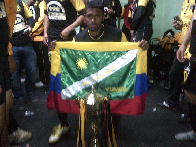El yumbeño Harold Reina se coronó campeón en el fútbol de Bolivia