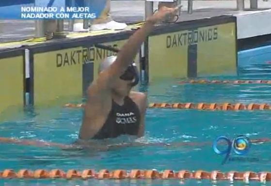Juan Fernando Ocampo, nominado a mejor nadador con aletas