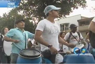 Percusionistas se preparan para apertura de la Feria de Cali