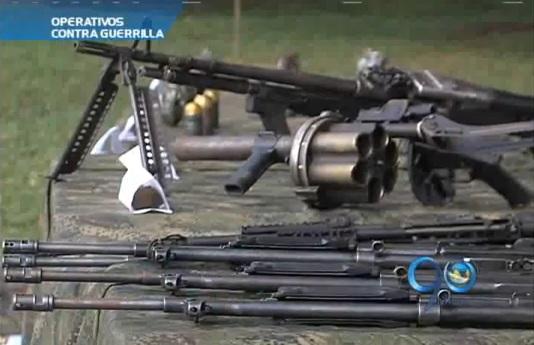 Ejército incauta arsenal de las Farc en el norte del Cauca
