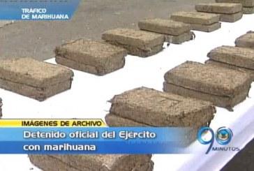 Detenido oficial del Ejército transportando marihuana