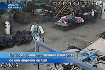 Asaltantes de una empresa quedaron grabados en video
