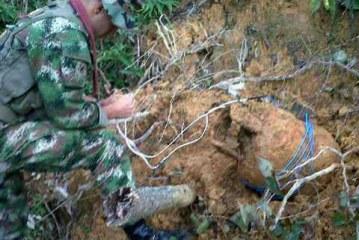 Ejército halla dos cilindros bomba en el Cauca
