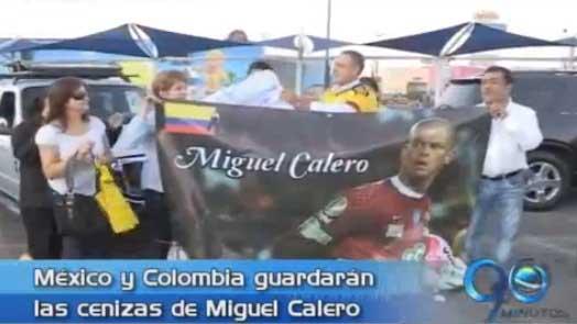 Emotiva despedida de aficionados mexicanos a Miguel Calero
