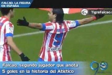 El 'Tigre' Falcao, gran figura en España después de marcar 5 goles