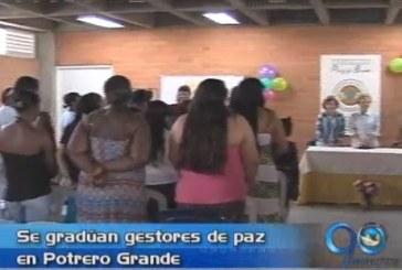 Se graduaron gestoras de paz en Potrero Grande