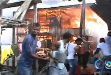 Hombres de la Armada ayudaron a apagar incendio en Mosquera