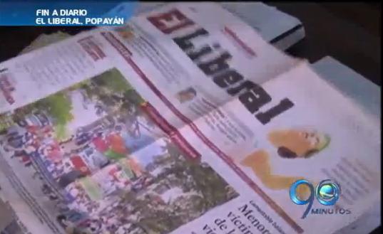 Sale de circulación el Diario El Liberal de Popayán