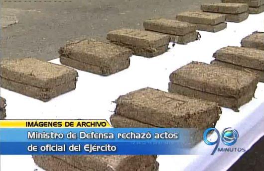 Ministro de Defensa rechazó conducta de oficial implicado en narcotráfico