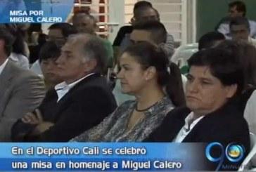 Misa en homenaje a Miguel Calero en la sede del Deportivo Cali