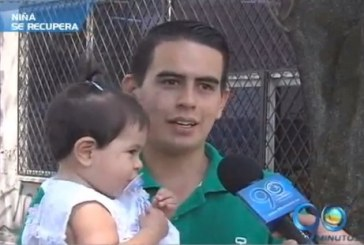 La bebita Angelita Cruz se recupera satisfactoriamente