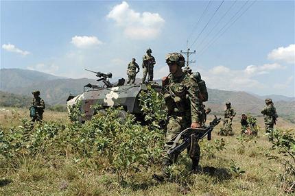 Bombardeo de las Fuerzas Militares a comando guerrillero en Nariño