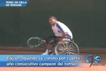 Eliécer Oquendo, campeón del torneo internacional de tenis en silla de ruedas