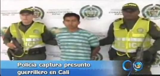 Policía captura presunto guerrillero en Cali