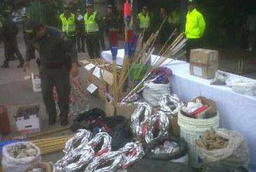 Policía decomisó más de dos toneladas de pólvora