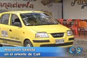 Asesinado taxista al oriente de Cali