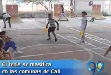 Implementan programa que busca masificar el tenis en comunas de Cali