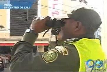 Policía instala puestos de vigía en el centro de Cali