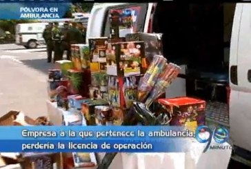Empresa de ambulancia que transportaba pólvora, perdería licencia de operación