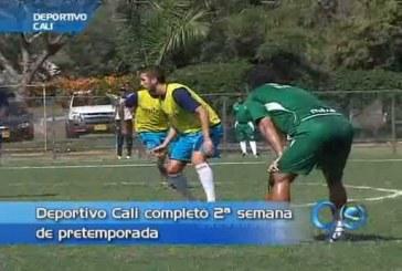 Jugadores del Deportivo Cali, a gusto con los trabajos de Leonel Álvarez