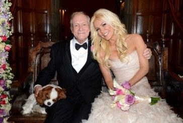 Hugh Hefner se casó con una mujer 60 años menor