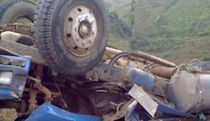Cuatro heridos dejó accidente en la vía a Dapa