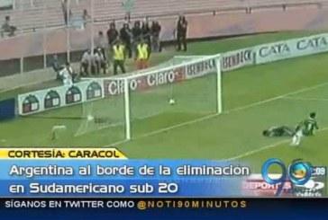 Argentina, a punto de la eliminación en el Suramericano Sub-20