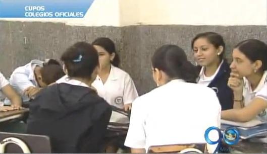 Colegios oficiales tienen 35 mil cupos escolares disponibles