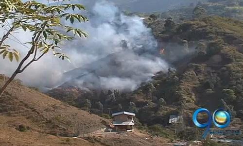 Incendio forestal consume siete hectáreas al oeste de Cali