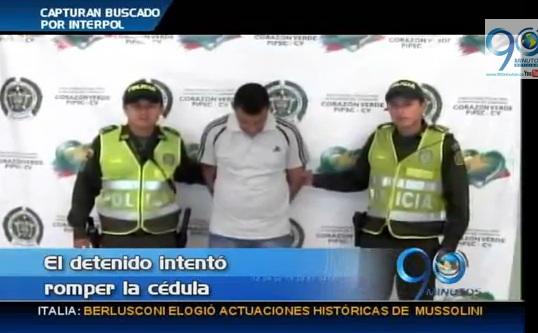 Capturado en Cali delincuente buscado por Interpol