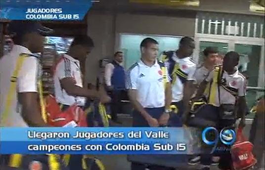 Regresaron los jugadores vallecaucanos campeones en el Mundialito de Bolivia