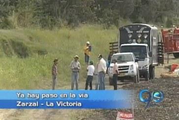 Habilitado el paso entre Zarzal y La Victoria