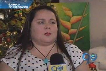 Beatriz Eugenia, ejemplo de superación en el arte de la pintura
