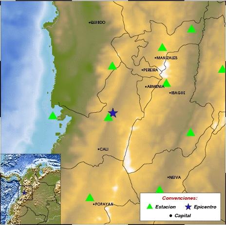 Sismo al suroeste de la cabecera municipal deTuluá, según Ingeominas