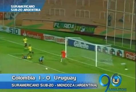 Colombia derrotó a Uruguay y es líder del Suramericano Sub-20