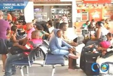 Congestión en terminal de transportes de Quibdó por altos costos en tiquetes aéreos