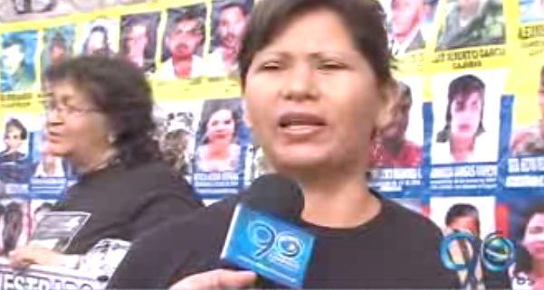 Plantón de familiares de secuestrados en el centro de Cali