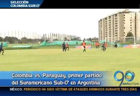 Colombia debuta contra Paraguay en el Suramericano Sub-17