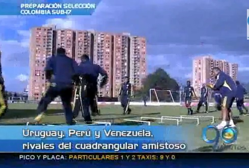 Selección Colombia Sub-17 juega cuadrangular amistoso en Venezuela